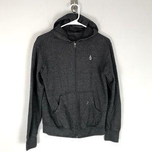Volcom slapdit slim youth hoodie full zip grey